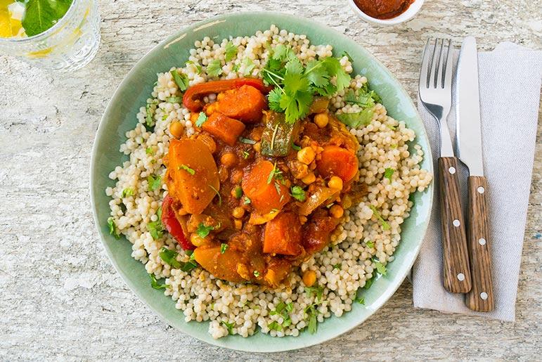 Bosto - recept, groenten, parelcouscous, vegetarisch, glutenvrij, bosto recept, bosto rijst, tajine